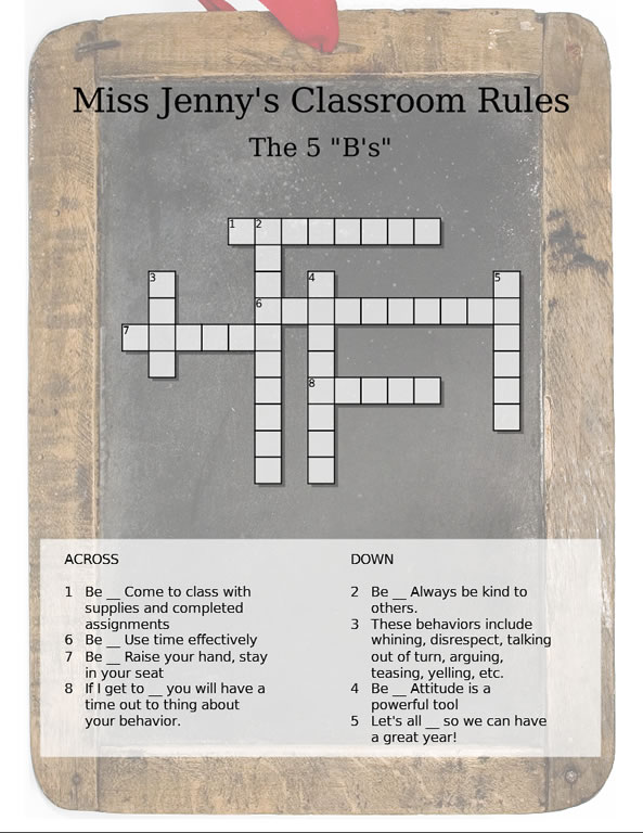 school rules puzzle