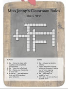 Classroom rules crossword puzzle
