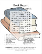 Book report word search puzzle