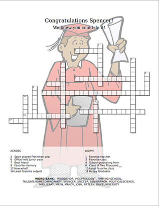 Congratulations crossword puzzle