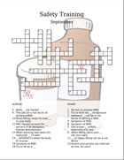 Safety training crossword puzzle
